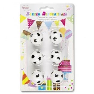 Set de 6 bougies - ballon de football - Städter