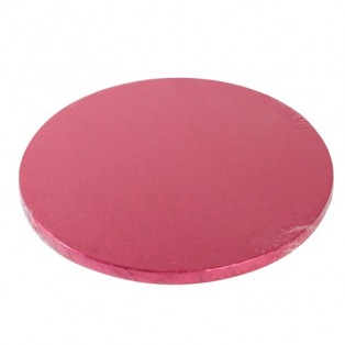 Cake Drum Round 25cm - Cerise - FunCakes