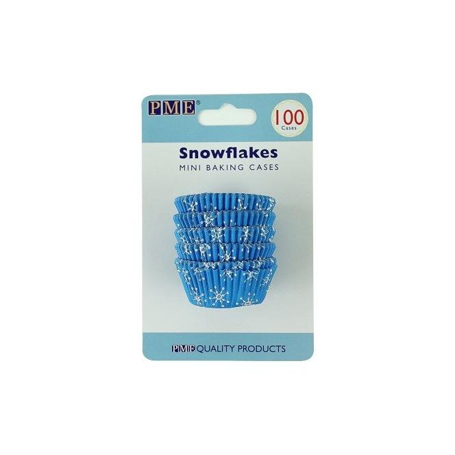 Mini Baking Cups Snowflakes pk/100 - PME