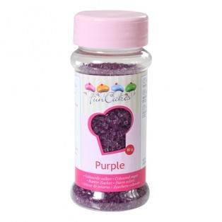 Coloured Sugar Purple 80g Funcakes