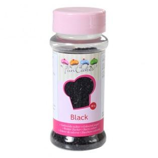 Coloured Sugar Black 80g Funcakes