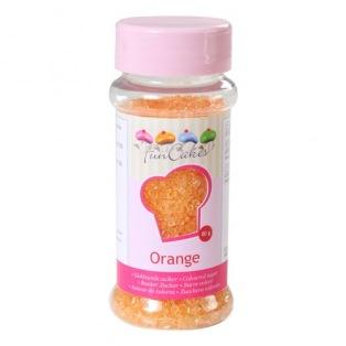 Coloured Sugar Orange 80g Funcakes
