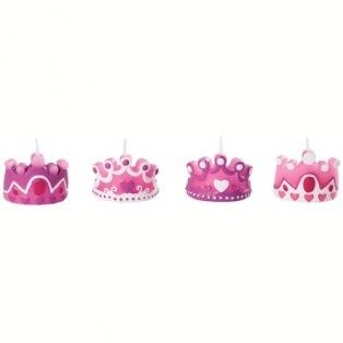 Set of 4 princess candles - Wilton