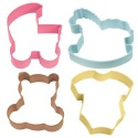 Cookie Cutter Baby Theme set/4 - Wilton