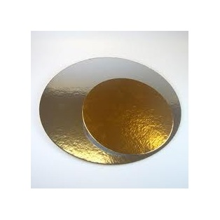 Cake boards silver/gold - Round - 15,2cm - Funcakes