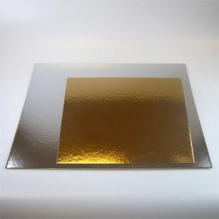 Cake boards silver/gold - Square - 25cm - Funcakes