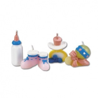 4 Baby themed candles - Städter