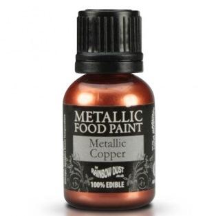 Metallic Food Paint - Copper - Rainbow Dust