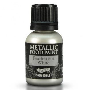 Peinture métallisée - Blanc- Rainbow Dust