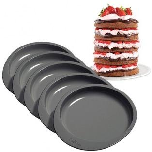 Set de 5 moules à gâteau/ Rainbow cake - 15cm - Wilton