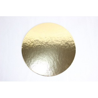 Cake boards gold - Round - 16cm
