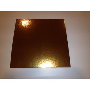 Support à gâteau doré- carré- 20x20cm