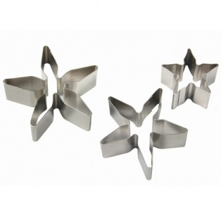 Set de 3 emportes pièces Calyx et fleur poinsettia - PME