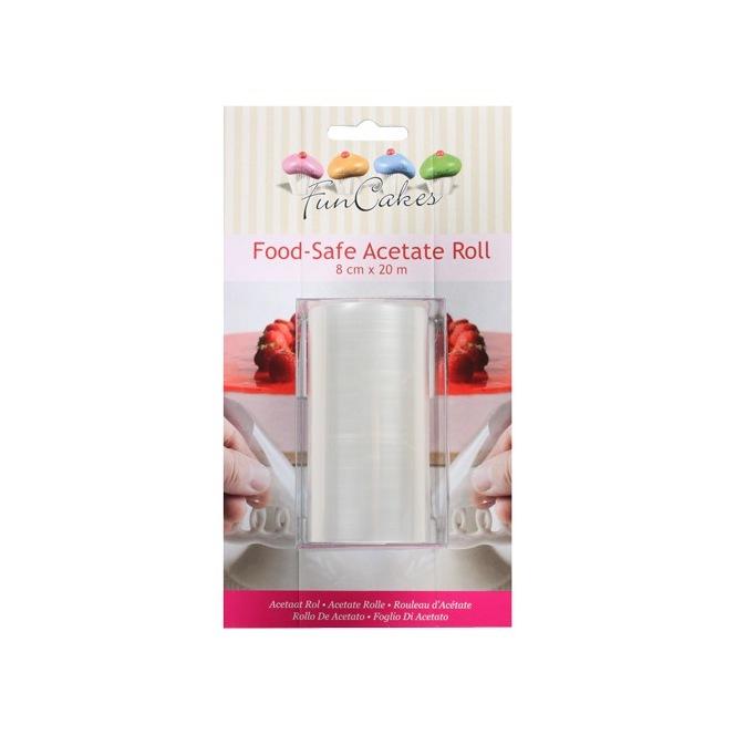 Rouleau d'acétate alimentaire- 8cm X 20m- Funcakes