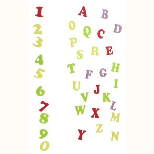 FMM Alphabet & Numbers Tappits Art Deco Upper Case