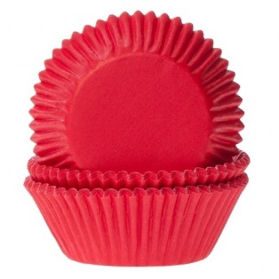 Baking Cups Rood pk/50 - House of Marie