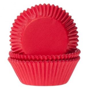 Caissettes à cupcakes - Rouge - 50pc - HoM
