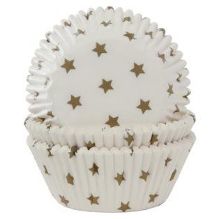 Caissettes à cupcakes - Etoiles dorées - 50pc - HoM