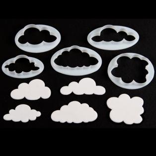 Fluffy Cloud Cutters - set/5 - FMM