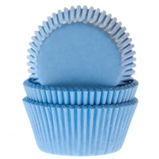 Baking Cups Light Blue pk/50- House of Marie
