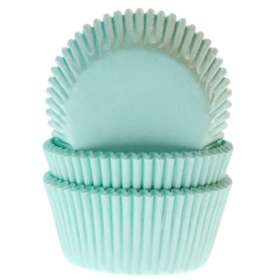 Baking Cups Mint green pk/50- House of Marie