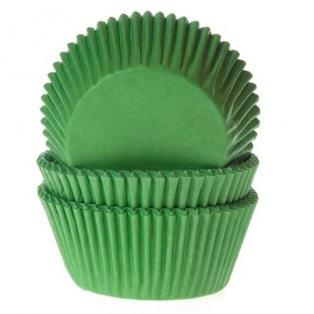 Caissettes à cupcake - Vert Herbe - 50 pces - HoM