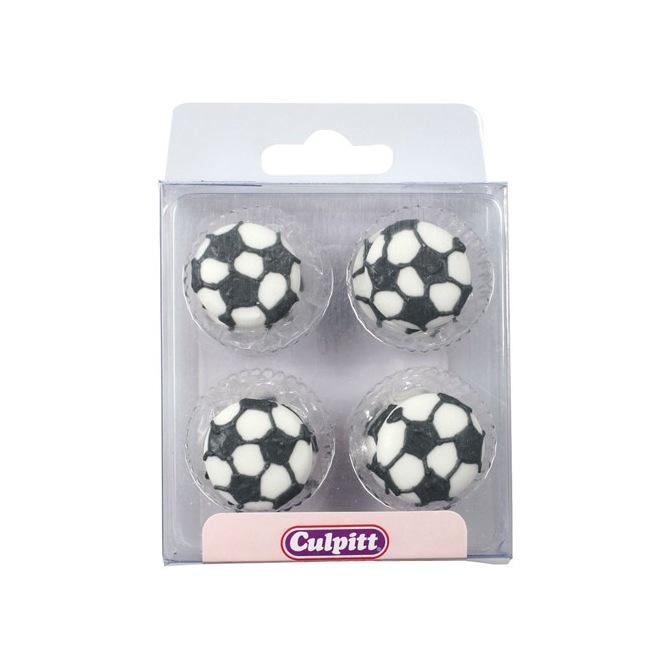 Football Sugar Decorations - 12pc- Culpitt