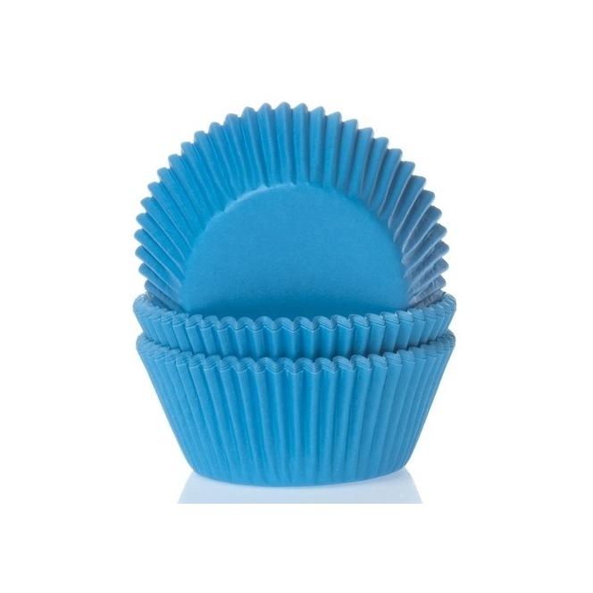 Caissettes à cupcakes - Bleu Cyan - 50pc - HoM