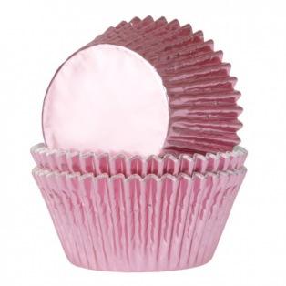 Baking Cups Folie Baby Roze Pk/24 HoM