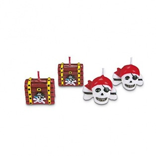 Candles decoration - pirates - 4pc - Städter
