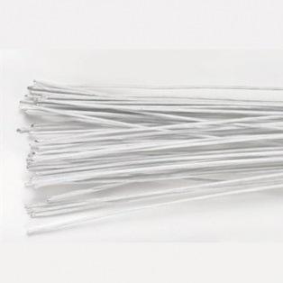 Lot de 50 fils en métal - Blanc - 0,5mm - Culpitt