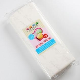 Pâte à sucre Blanc éclatant (Bright White) - 1 kg - Funcakes