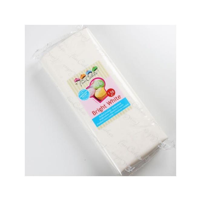 Pâte à sucre - Bright White - 250gr - Funcakes