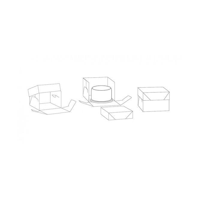 Boîte à gâteau PME et son support rond 30X30X15