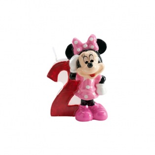 Bougie d'anniversaire Minnie - 2 ans