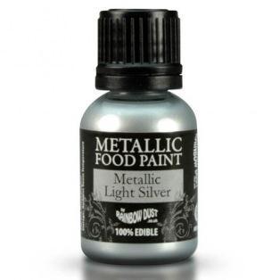 Peinture métallisée - Argent clair - Rainbow Dust