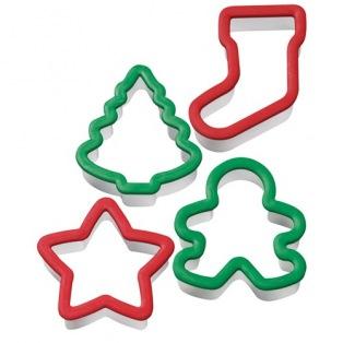 Wilton Grippy Cutter Christmas set/4
