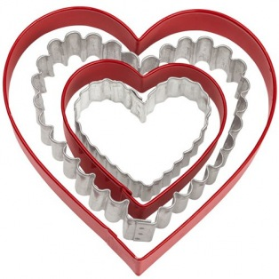 Wilton Cookie Cutter Metal Heart - Pk/4