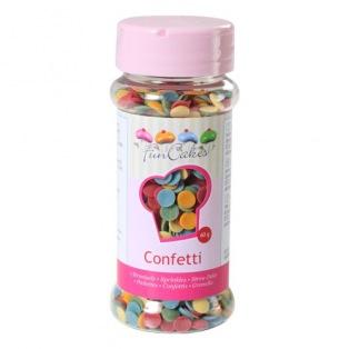 Confettis mutli-couleurs Funcakes 60g