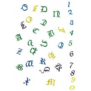 Set de lettres et chiffres - Old English - FMM