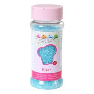 Gekleurde suiker -Blauw- FunCakes 80g