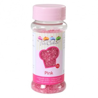 Coloured Sugar Pink 80g Funcakes