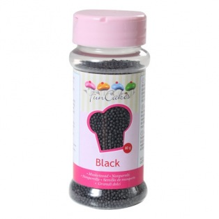 FunCakes Nonpareils Black 80g