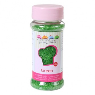 Coloured Sugar Green 80g Funcakes