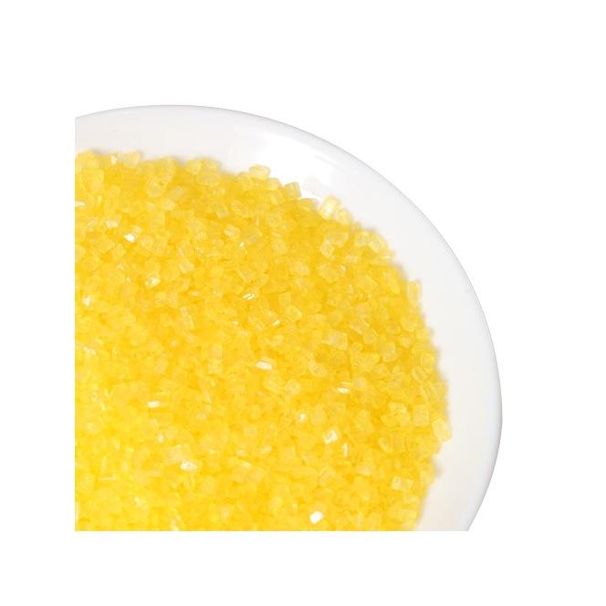 Coloured Sugar -Yellow- 80g - Funcakes