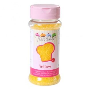 FunCakes Gekleurde Suiker Geel 80g