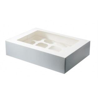 White 12 Cupcake/Muffin Box