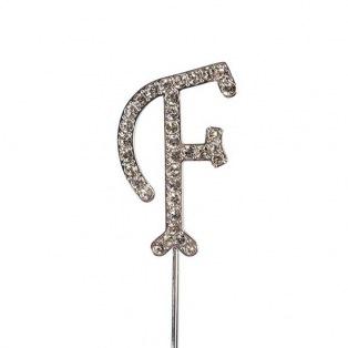 Diamante Alphabet Pick - F