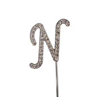 Lettre N en strass