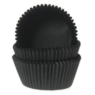 House of Marie Mini Baking cups Zwart - pk/60